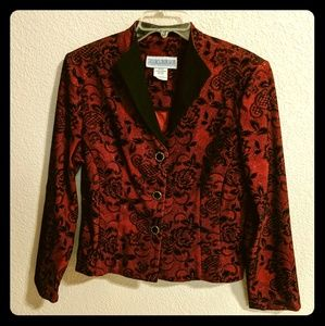 Jessica Howard Vintage Red & Black Blazer sz.16